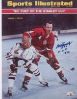 "Bill Gadsby Signed Red Wings 8x10 Photo Inscribed ""H.O.F. 1970"" (SidsGraphs COA) at PristineAuction.com"