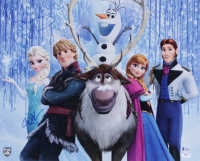"Jonathan Groff & Idina Menzel Signed ""Frozen"" 16x20 Photo (Beckett COA & PSA COA) at PristineAuction.com"