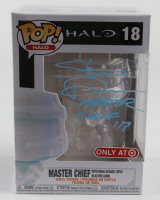 """Steve Downes Signed """"Halo"""" Master Chief with MA40 Assault Rifle In Active Camo #18 Funko Pop! Vinyl Figure Inscribed """"Master Chief 117"""" (Radtke COA) at PristineAuction.com"""