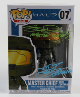 "Steve Downes & Jen Taylor Signed ""Halo"" Master Chief with Cortana #7 Funko Pop! Vinyl Figure Inscribed ""Master Chief 117"" & ""Cortana"" (Radtke COA) at PristineAuction.com"