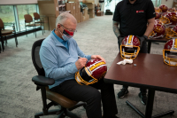 """Coach Joe Gibbs Signed Exclusive 3x Super Bowl Champion Full-Size Authentic On-Field Helmet Inscribed """"HOF 96"""" (PA COA) at PristineAuction.com"""