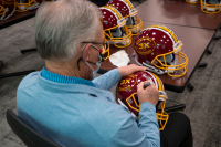 """Coach Joe Gibbs Signed Exclusive 3x Super Bowl Champion Full-Size Helmet Inscribed """"HOF 96"""" (PA COA) at PristineAuction.com"""
