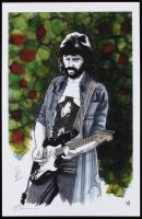"Tom Hodges - Eric Clapton - Signed 11"" x 17"" Print LE #/5 (PA COA) at PristineAuction.com"