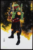 "Tom Hodges - Boba Fett - ""Star Wars: The Mandalorian"" - Signed 11"" x 17"" Print LE #/50 (PA COA) at PristineAuction.com"