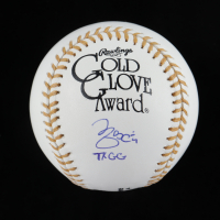 "Yadier Molina Signed Gold Glove Award Baseball Inscribed ""7x GG"" (Beckett COA) at PristineAuction.com"