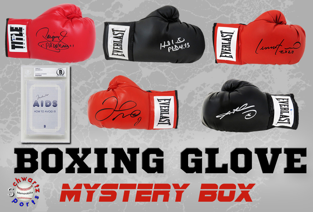 Schwartz Sports Boxing Signed Boxing Glove Mystery - Series 11 (Limited to 100) **MUHAMMAD ALI Autograph – Grand Prize** at PristineAuction.com
