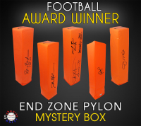 Schwartz Sports Football Award Winner Signed Endzone Pylon Mystery Box - Series 2 (Limited to 75) at PristineAuction.com