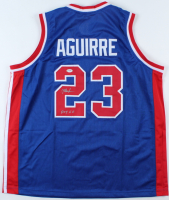 """Mark Aguirre Signed Jersey Inscribed """"POY 80"""" (PSA COA) at PristineAuction.com"""