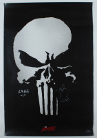 """Jon Bernthal & Ebon Moss-Bachrach Signed """"The Punisher"""" 24x36 Movie Poster Inscribed """"Micro"""" (Radtke Hologram) (See Description) at PristineAuction.com"""