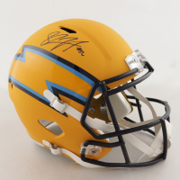 Shawne Merriman Signed Chargers Full-Size AMP Alternate Speed Helmet (Beckett COA) at PristineAuction.com