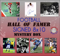 Schwartz Sports Football Hall of Famers Signed 8x10 Photo Mystery Box Series 15 (Limited to 150) - **Brett Favre, Barry Sanders & Lawrence Taylor 16x20 Photo Redemptions** at PristineAuction.com