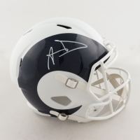 Aaron Donald Signed Rams Full-Size AMP Alternate Speed Helmet (JSA COA) at PristineAuction.com