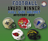 Schwartz Sports Football Award Winner Signed Full-Size Helmet Mystery Box Series 3 (Limited to 75) at PristineAuction.com