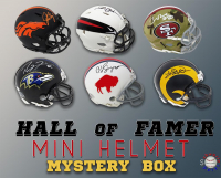 Schwartz Sports Football Hall of Famer Signed Mini Helmet Mystery Box – Series 14 (Limited to 100) at PristineAuction.com