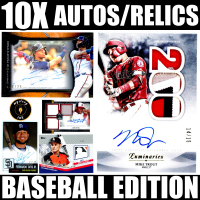 Mystery Ink 10X Baseball Edition Mystery Box - 10 Autos / Jerseys / Relics Cards in Every Pack! at PristineAuction.com