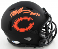 "Mike Singletary Signed Bears Eclipse Alternate Speed Mini Helmet Inscribed ""HOF 98"" (Beckett COA) at PristineAuction.com"