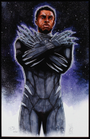 "Tom Hodges - Black Panther - Marvel Comics - Signed 11"" x 17"" Print LE #/25 (PA COA) at PristineAuction.com"