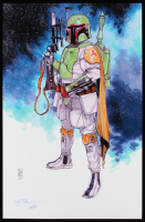 "Tom Hodges - Boba Fett - ""Star Wars: The Empire Strikes Back"" - Signed 11"" x 17"" Print LE #/25 (PA COA) at PristineAuction.com"