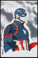 "Tom Hodges - Captain America - Marvel Comics - Signed 11"" x 17"" Print LE #/25 (PA COA) at PristineAuction.com"
