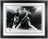 Muhammad Ali & Joe Frazier Signed 42.5x52.5 Custom Framed Photo Display (Beckett LOA) at PristineAuction.com