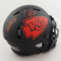 "Clyde Edwards-Helaire Signed Chiefs Full-Size Authentic On-Field Eclipse Alternate Speed Helmet Inscribed ""#Glyde"" (Beckett COA) (See Description) at PristineAuction.com"
