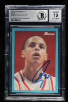 Stephen Curry Signed 2009-10 Bowman 48 Blue #106 (BGS Encapsulated) at PristineAuction.com