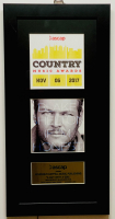 """Blake Shelton """"A Guy With A Girl"""" 10x20 Custom Framed 2017 Country Music ASCAP Honors Award at PristineAuction.com"""