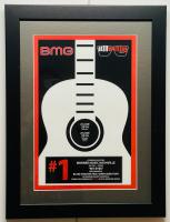 "Blake Shelton & Gwen Sebastian ""My Eyes"" 14x18.5 Custom Framed 2014 BMG #1 Song Honors Award at PristineAuction.com"