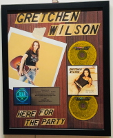 """Gretchen Wilson """"Here for the Party"""" 17.5x21.5 Custom Framed Multi-Platinum 2,000,000 Sales Award at PristineAuction.com"""