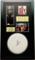 """Bon Jovi"" 17x30 Custom Framed Cut, Photo & Drumhead Display Signed by (5) with Jon Bon Jovi, Tico Torres, Richie Sambora, Alec John Such & David Bryan (JSA COA & Beckett COA) at PristineAuction.com"