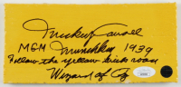 """Mickey Carroll Signed """"The Wizard of Oz"""" 4x8 Yellow Brick Movie Prop with Multiple Inscriptions (JSA COA) at PristineAuction.com"""