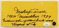 "Mickey Carroll Signed ""The Wizard of Oz"" 4x8 Yellow Brick Movie Prop with Multiple Inscriptions (JSA COA) at PristineAuction.com"