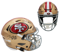 Joe Montana, Steve Young, & Jerry Rice Signed 49ers Full-Size Authentic On-Field SpeedFlex Helmet (Radtke COA & Fanatics Hologram) at PristineAuction.com