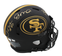 Joe Montana, Steve Young & Jerry Rice Signed 49ers Full-Size Authentic On-Field Eclipse Alternate Speed Helmet (Radtke COA & Fanatics Hologram) at PristineAuction.com