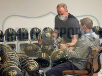 Joe Montana, Steve Young & Jerry Rice Signed 49ers Full-Size Authentic On-Field Eclipse Alternate Speed Helmet (Radtke COA & Fanatics Hologram) at PristineAuction.com