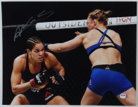 Amanda Nunes Signed UFC 11x14 Photo (PSA COA) at PristineAuction.com