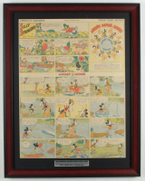 "Vintage Disney's ""Walt Disney's Mickey Mouse & Silly Symphony Cartoons"" 18.5x23.5 Custom Framed Comic Strip Display at PristineAuction.com"