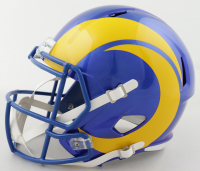Cam Akers Signed Rams Full-Size Speed Helmet (Beckett COA) at PristineAuction.com