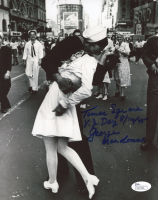"George Mendonsa Signed ""Iconic Times Square"" 8x10 Photo with Multiple Inscriptions (JSA COA) at PristineAuction.com"