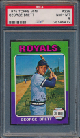George Brett  1975 Topps Mini #228 RC (PSA 8) at PristineAuction.com