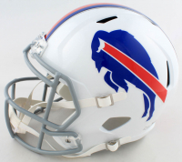 Jim Kelly, Thurman Thomas & Andre Reed Signed Bills Full-Size Speed Helmet (Beckett COA) at PristineAuction.com