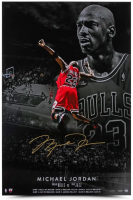 Michael Jackson Signed Bulls 24x36 LE Photo (UDA COA) at PristineAuction.com
