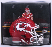 Patrick Mahomes II Signed Chiefs Full-Size Authentic On-Field Speed Helmet with LE Custom Curve Display (Fanatics Hologram) at PristineAuction.com