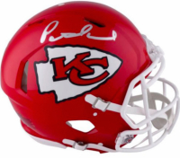 Patrick Mahomes II Signed LE Chiefs Full-Size Authentic On-Field Speed Helmet with Custom Curve Display (Fanatics Hologram) at PristineAuction.com