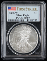 2008-W American Silver Eagle $1 One Dollar Coin (PCGS MS69) at PristineAuction.com