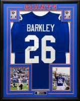 Saquon Barkley Signed 34.5x42.5 Custom Framed Jersey (JSA COA) at PristineAuction.com