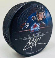 "Cale Makar Signed Avalanche ""2020 Calder Trophy Winner"" LE Hockey Puck (Fanatics Hologram) at PristineAuction.com"