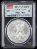 2014-(S) American Silver Eagle $1 One Dollar Coin (PCGS MS69) at PristineAuction.com