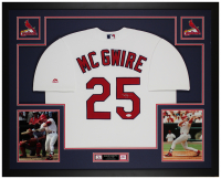 Mark McGwire Signed Cardinals 35x43 Custom Framed Jersey Display (JSA COA) at PristineAuction.com
