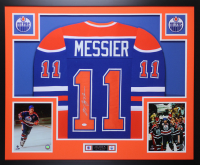 Mark Messier Signed 35x43 Custom Framed Jersey (JSA COA) at PristineAuction.com